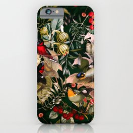 Floral and Birds XXV iPhone Case