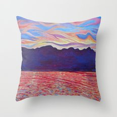 Sunset Over Vancouver Island Throw Pillow