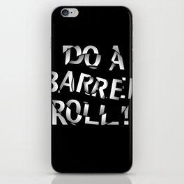 Do a barrel roll! iPhone Skin