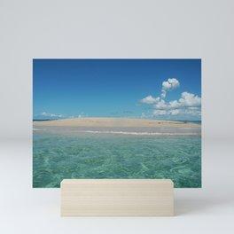 Tropical Desert Island Crystalline Water Sea Cloud Mini Art Print