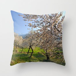Flowering almond Throw Pillow