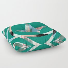 Abstract Brushstroke Circles Floor Pillow