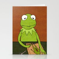 kermit Stationery Cards featuring Kermit by Sylvie R.