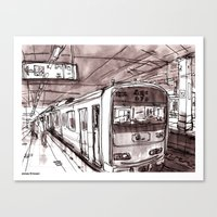 subway Canvas Prints featuring Subway by Jonas Ericson