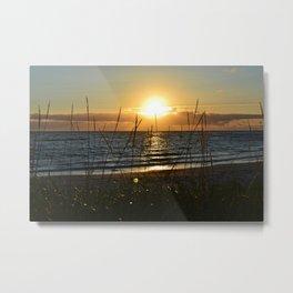 Midnight Sun in Lofoten Metal Print