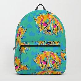 Bright Dog Pattern | Blue Backpack