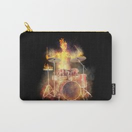 Flaming Skeleton Drummer Set 2BL Carry-All Pouch