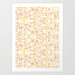 Abstract Gold Rings - Pattern Art Print