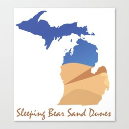Sleeping Bear Sand Dunes Canvas Print