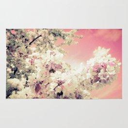 Pink Lavender Flowers Rug
