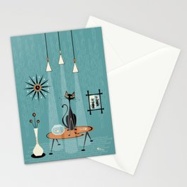 Mid Century Mishchief/ Cat Red Handed I Stationery Cards