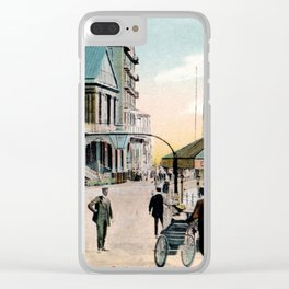 Pier Gates Llandudno Wales 1890 Clear iPhone Case