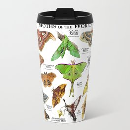 Moths of the World Travel Mug