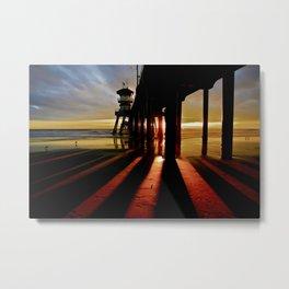 Surf City Sunsets Metal Print