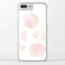 Garlic Illustration Clear iPhone Case