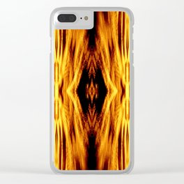 Flame Pattern Fire Astract Clear iPhone Case