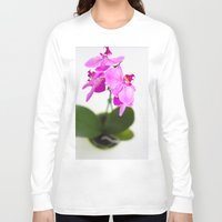 orchid Long Sleeve T-shirts featuring Orchid by Darko Rikalo