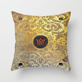 Golden Swirls Book Throw Pillow