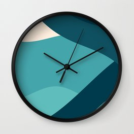 swell ocean and teal Wall Clock