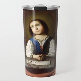 The Young Virgin, Francisco de Zurbaran, 1632 Travel Mug