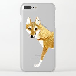Ginger dingo (Canis lupus dingo) (c)2017 Clear iPhone Case
