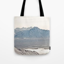 Talkeetna Mountains and Twin Peaks Tote Bag