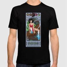 Crysta Nouveau - Fern Gully MEDIUM Mens Fitted Tee Black