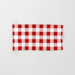 Red and White Check Hand & Bath Towel