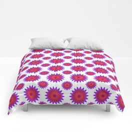 Pink,red and fuchsia color mandala Comforters