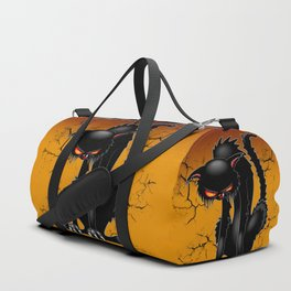 Black Cat Evil Angry Funny Character Duffle Bag