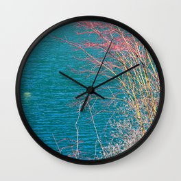 Forest Lake Colorful Scenery Wall Clock