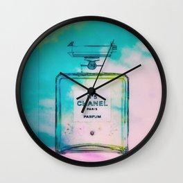 Fashion Icon Floral Skies Wall Clock