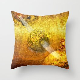 Spying in the Space Throw Pillow