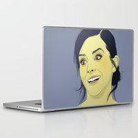 emma watson Laptop & iPad Skins featuring Emma Watson funny face by Esther Cerga