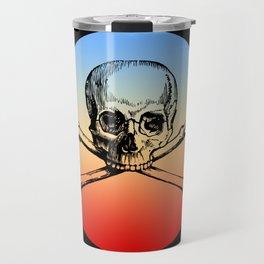 Classic Retro Design Skull & Bones Travel Mug