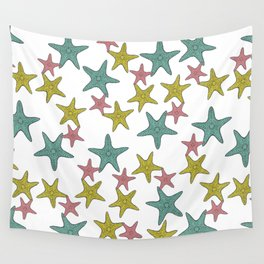 starfish tropical print Wall Tapestry