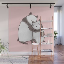 Panda Cuddle Wall Mural