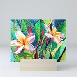 Plumeria Garden Mini Art Print