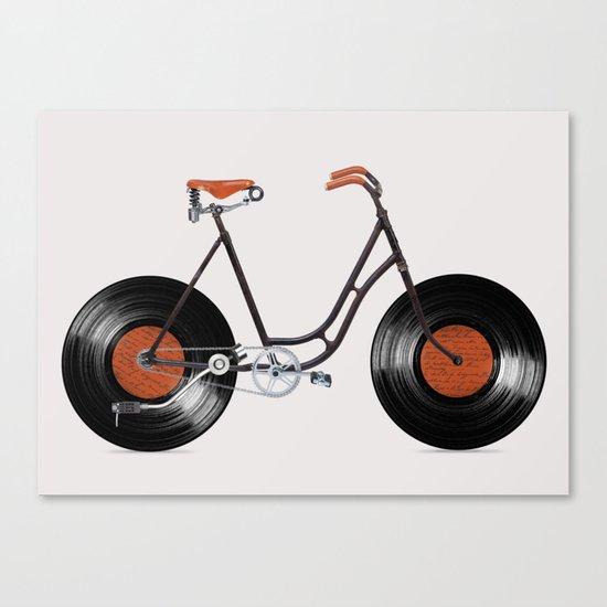 Vinyl Bike Canvas Print