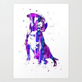 Cane Corso, Cane Corso dog, watercolor Cane Corso Art Print