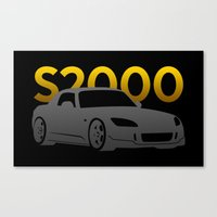 honda Canvas Prints featuring Honda S2000 by Vehicle