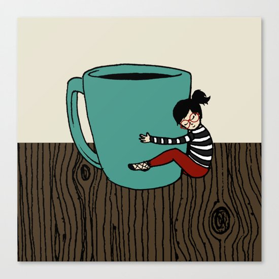 Coffee Mug Love Canvas Print