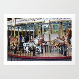 The Carousel Art Print