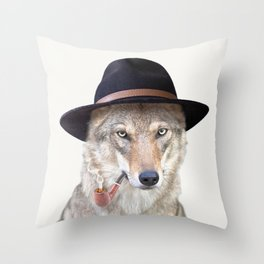 WOODY HUTSON Throw Pillow