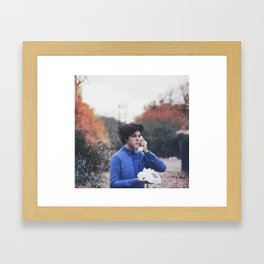 in one ear//out the other Framed Art Print
