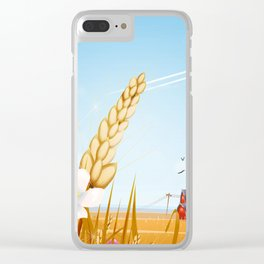 The farm on a sunny day. Clear iPhone Case
