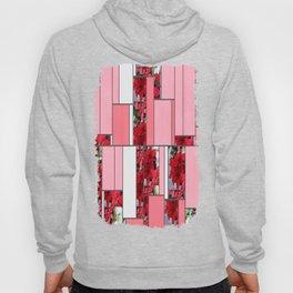 Mixed color Poinsettias 1 Art Rectangles 9 Hoody