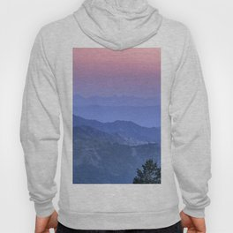 """Mountain dreams II"". At sunset. Hoody"