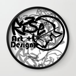 RISE - Full Tag Logo Wall Clock
