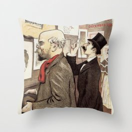 December 1894 7th Salon des 100 Art Expo Paris France Throw Pillow